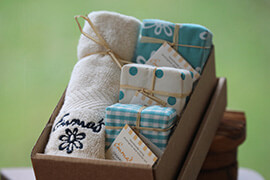 Organic Shea Butter Gift Box with flannel