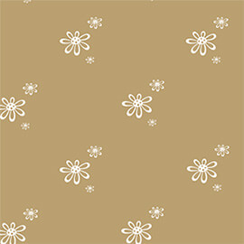 Eco Gift Wrapping Daisy Print